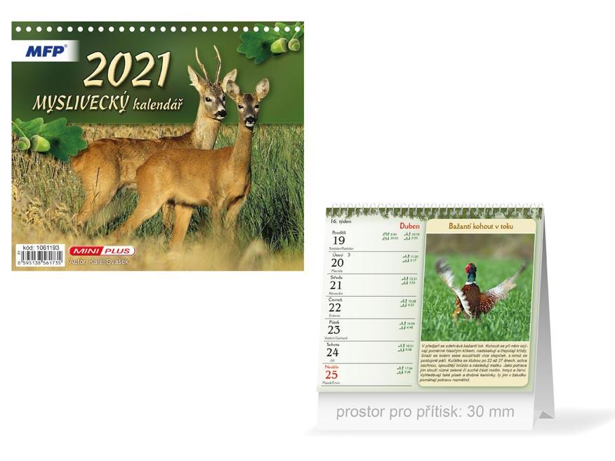 MFP 1061193 kalendář 2021 stolní mini Myslivecký
