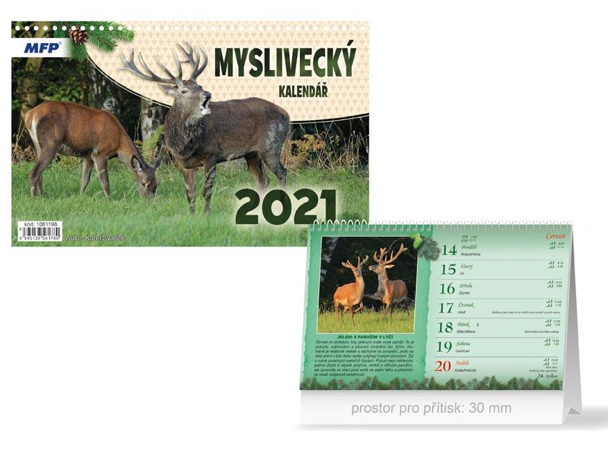 MFP 1061198 kalendář 2021 stolní Myslivecký