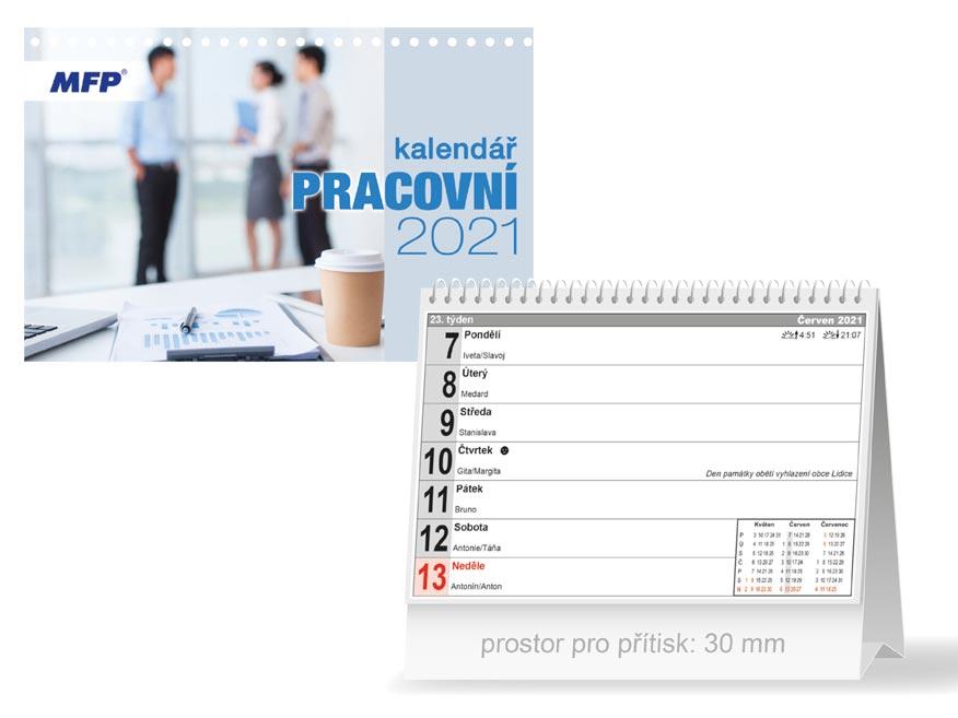 MFP 1061201 kalendář 2021 stolní Pracovní