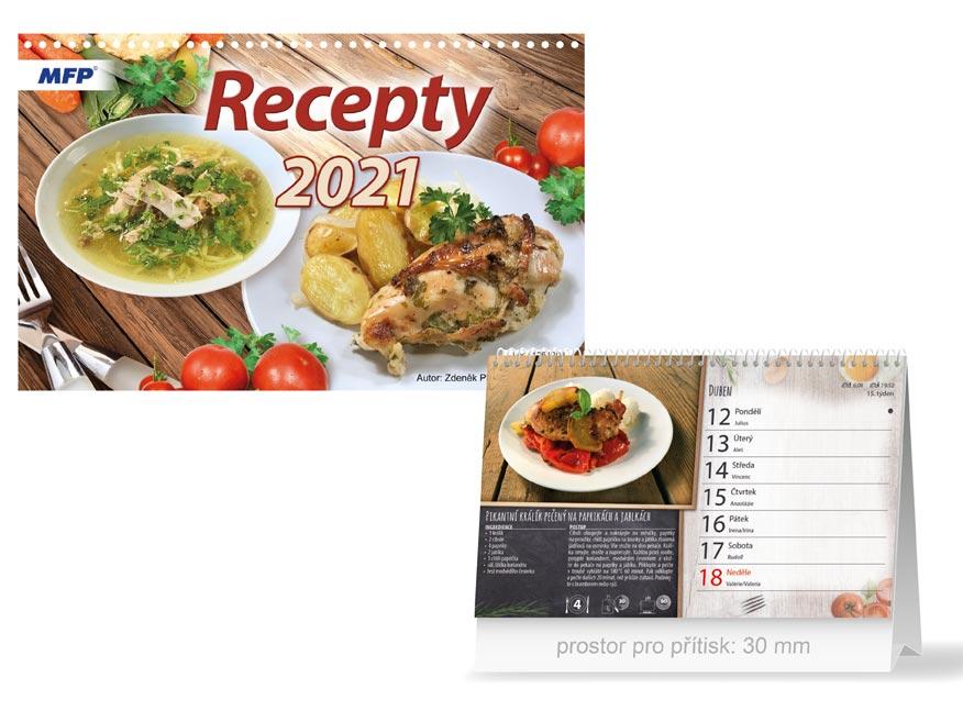 MFP 1061204 kalendář 2021 stolní Recepty