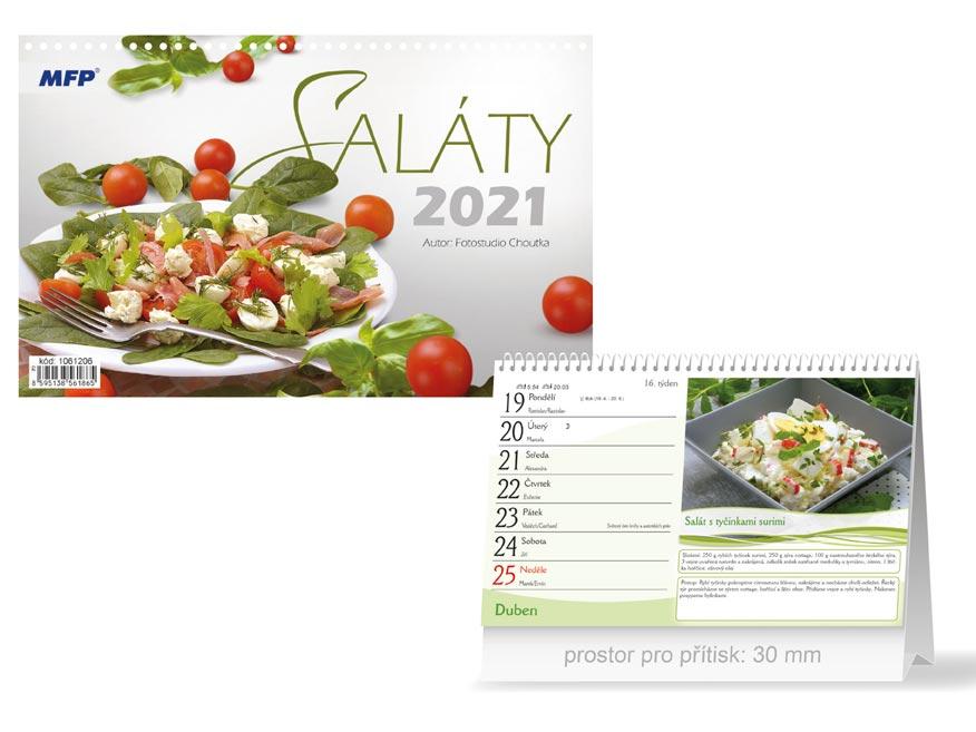 MFP 1061206 kalendář 2021 stolní Saláty