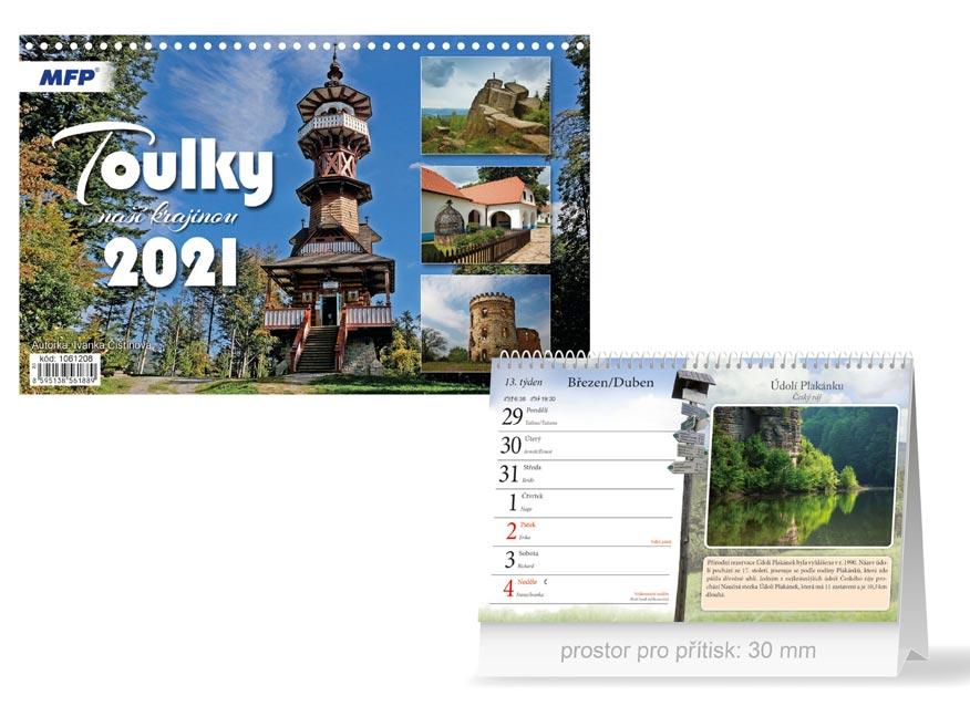 MFP 1061208 kalendář 2021 stolní Toulky naší krajinou