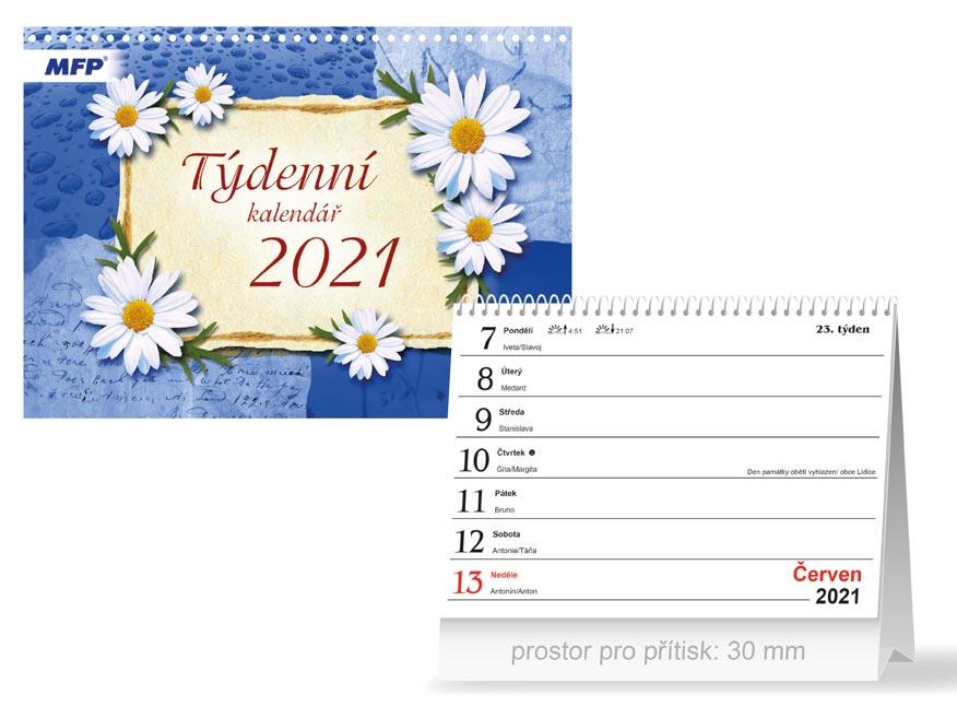 MFP 1061209 kalendář 2021 stolní Týdenní