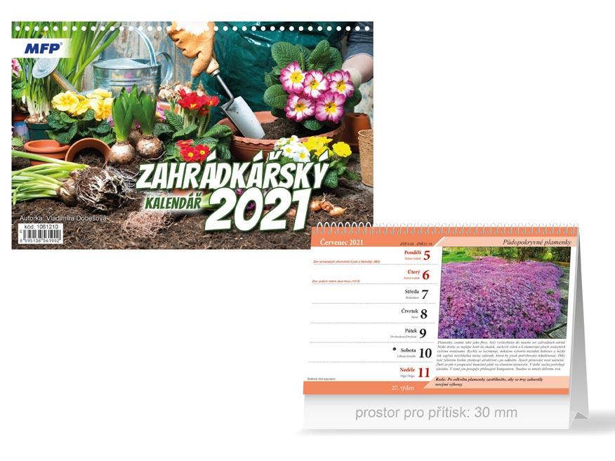 MFP 1061210 kalendář 2021 stolní Zahrádkářský
