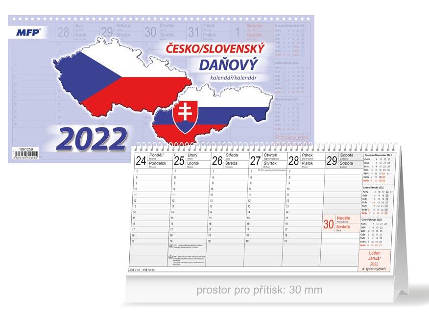 Kalendář 2022 stolní Česko/slovenský