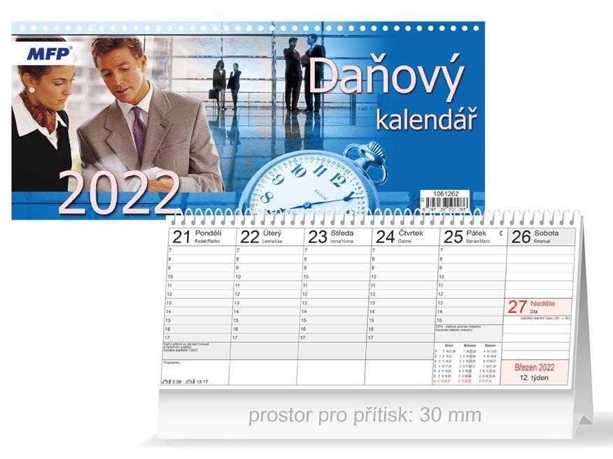 Kalendář 2022 stolní Daňový