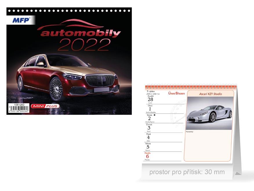 Kalendář 2022 stolní mini Automobily