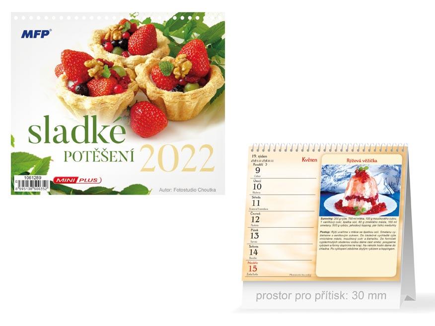 Kalendář 2022 stolní mini Sladké potěšení