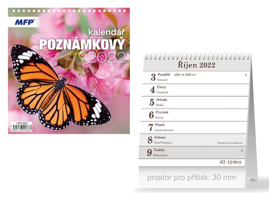 Kalendář 2022 stolní Poznámkový