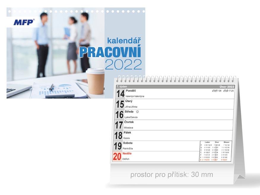Kalendář 2022 stolní Pracovní