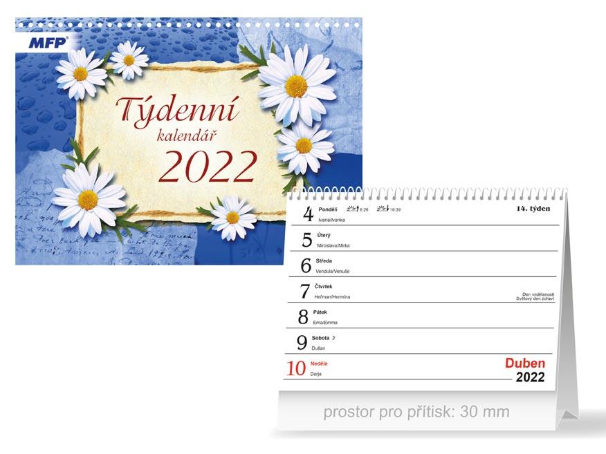 Kalendář 2022 stolní Týdenní
