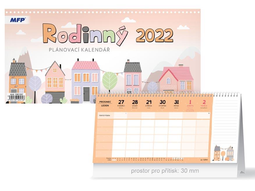 Kalendář 2022 stolní Rodinný - plánovací