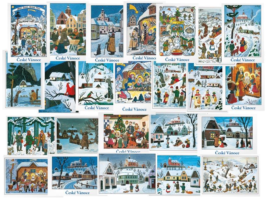 MFP pohlednice vánoční Josef Lada (100)