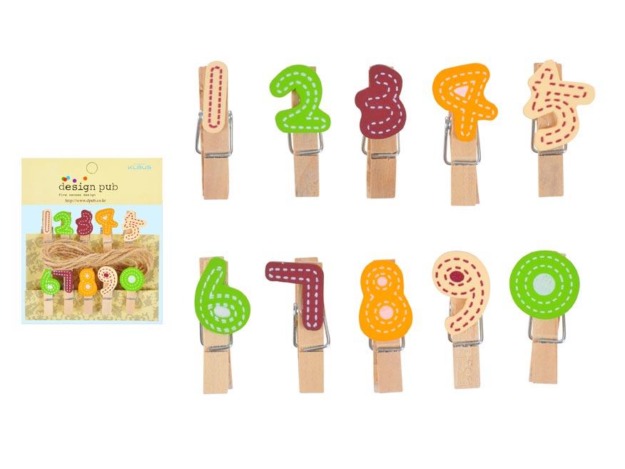 Kolíčky W816258 čísla 10 ks