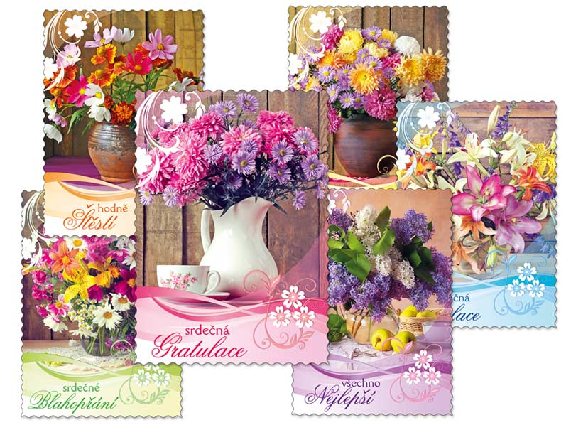 MFP 1230295 pohlednice sr R052 E glitr+výsek+UV