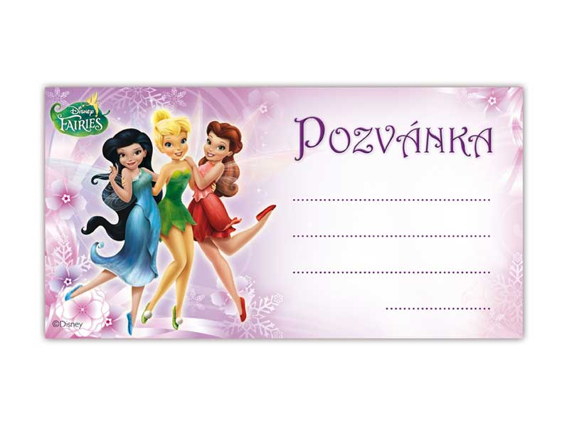 Pozvánka Y02 Disney Fairies (10ks) (190x100mm)