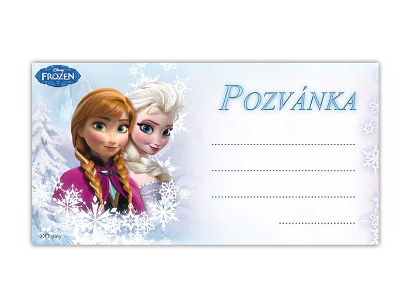 Pozvánka Y03 Disney Frozen (10ks) (190x100mm)
