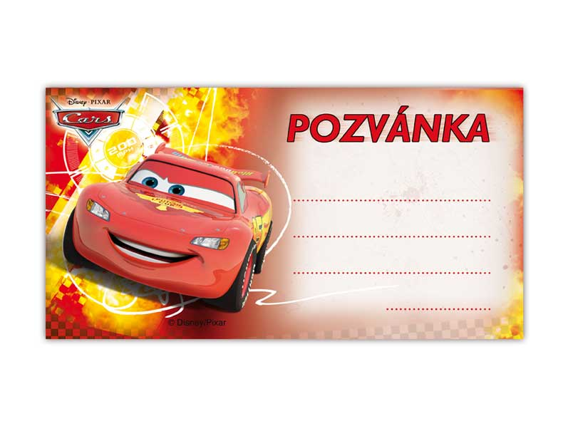 Pozvánka Y04 Disney Cars (10ks) (190x100mm)