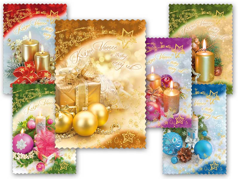 MFP 1240663 Pohlednice vánoční 114 E výsek+UV+glitr