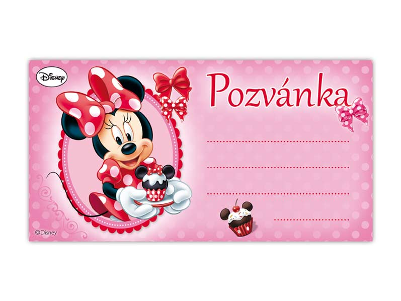 Pozvánka Y08 Disney Minnie (10ks) (190x100mm)