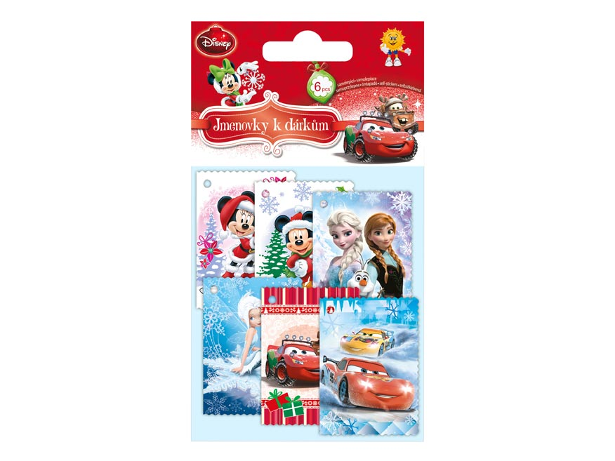 MFP jmenovky na dárky vánoční DISNEY (6ks)
