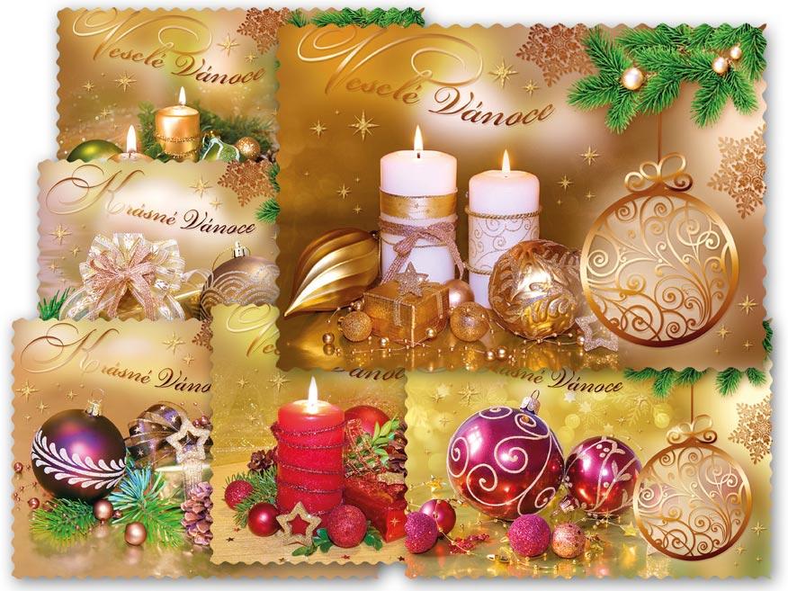 MFP 1240704 Pohlednice vánoční 125 E výsek+UV+glitr