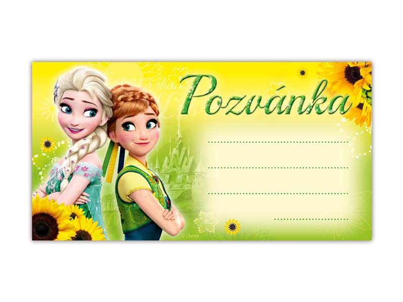 Pozvánka Y12 Disney Frozen (10ks) (190x100mm)