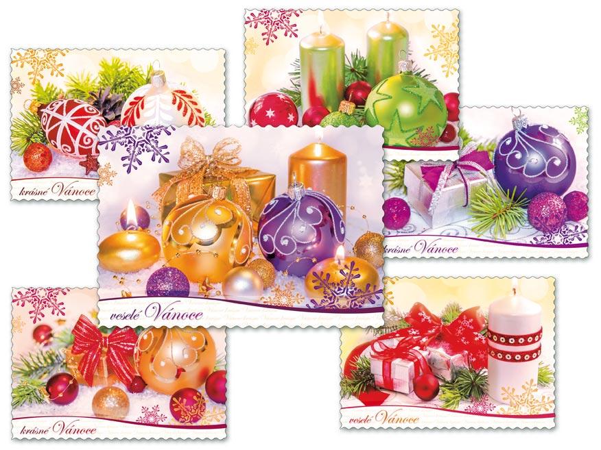 MFP 1240734 Pohlednice vánoční 130 E výsek+UV+glitr