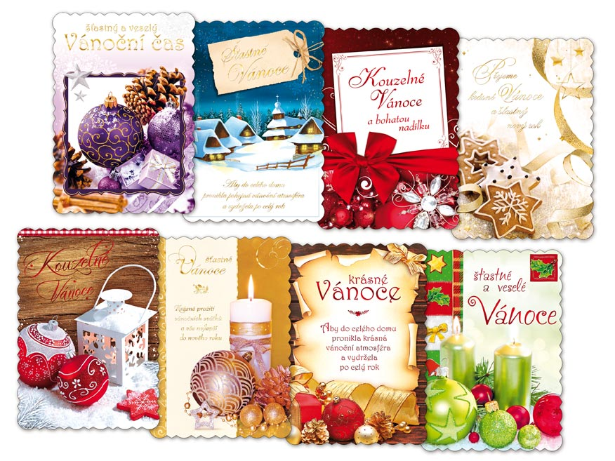MFP 1240747 pohlednice vánoční A5 001 výsek+UV+termoražba