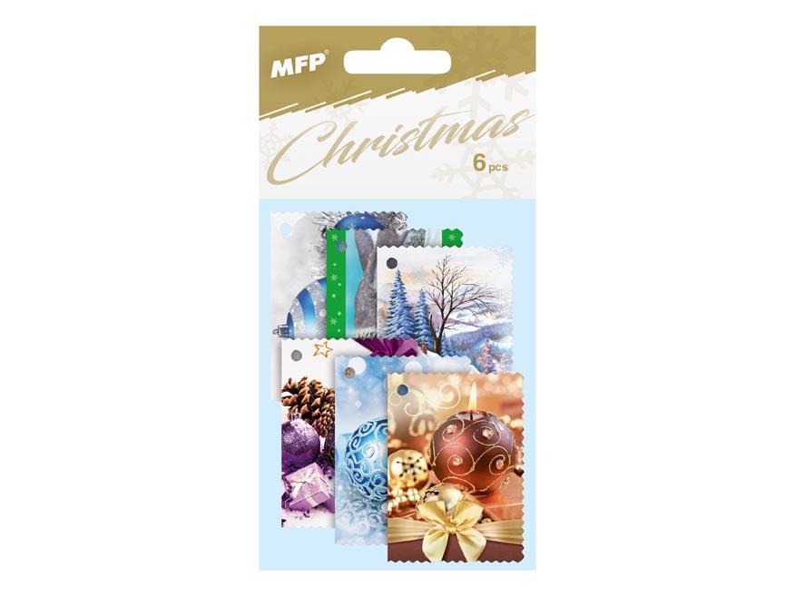MFP 1240785 jmenovky na dárky vánoční 6ks
