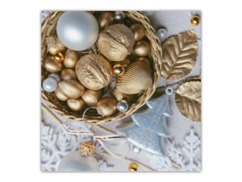 Ubrousek 33x33 vánoční BN15-076