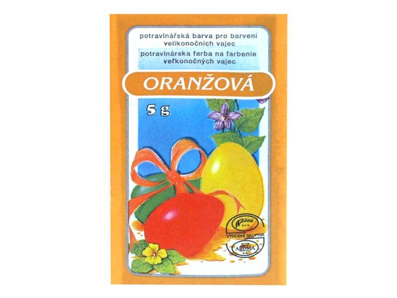 Velikonoční barvy na vajíčka 701 oranžová 5g