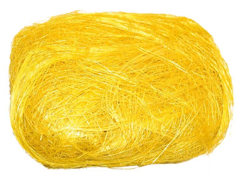 Dekorační sisal 2421 žlutý 30g