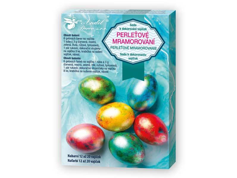 Sada 7700 k dekorování vajíček - perleťový mramor