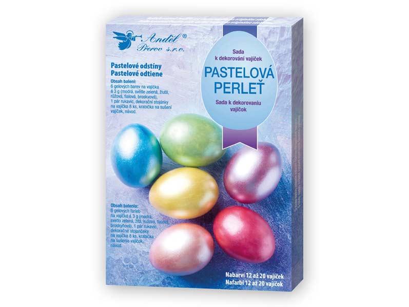 Anděl Sada 7701 k dekorování vajíček - pastelová perleť