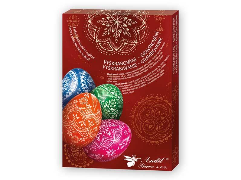 Anděl sada 7704 k dekorování vajíček - vyškrabování