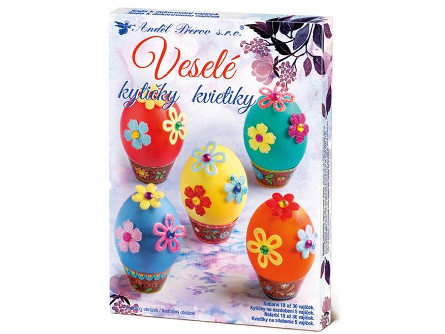 Anděl sada 7722 k dekorování vajíček - veselé kytičky