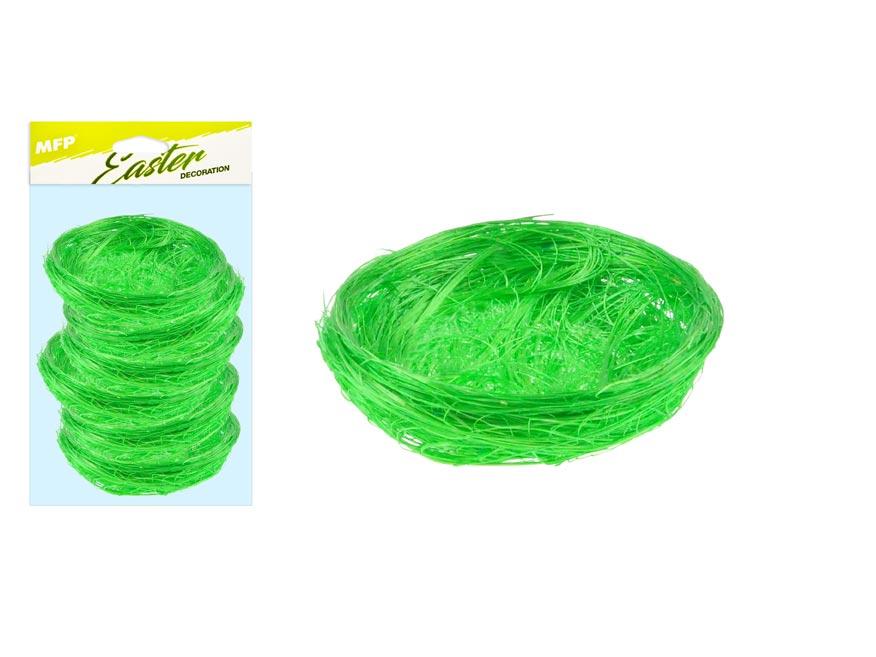 Hnízdo sisal 5cm 6ks - zelené