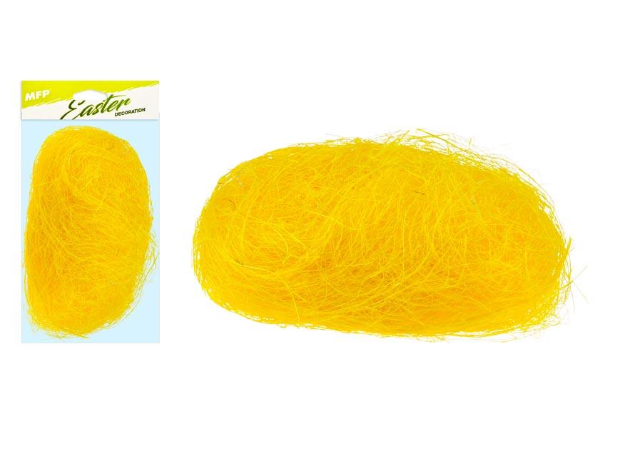 Dekorační sisal 20g žlutý