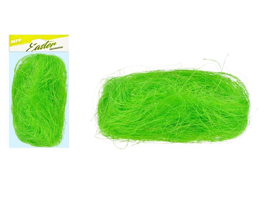 Dekorační sisal 20g světle zelený