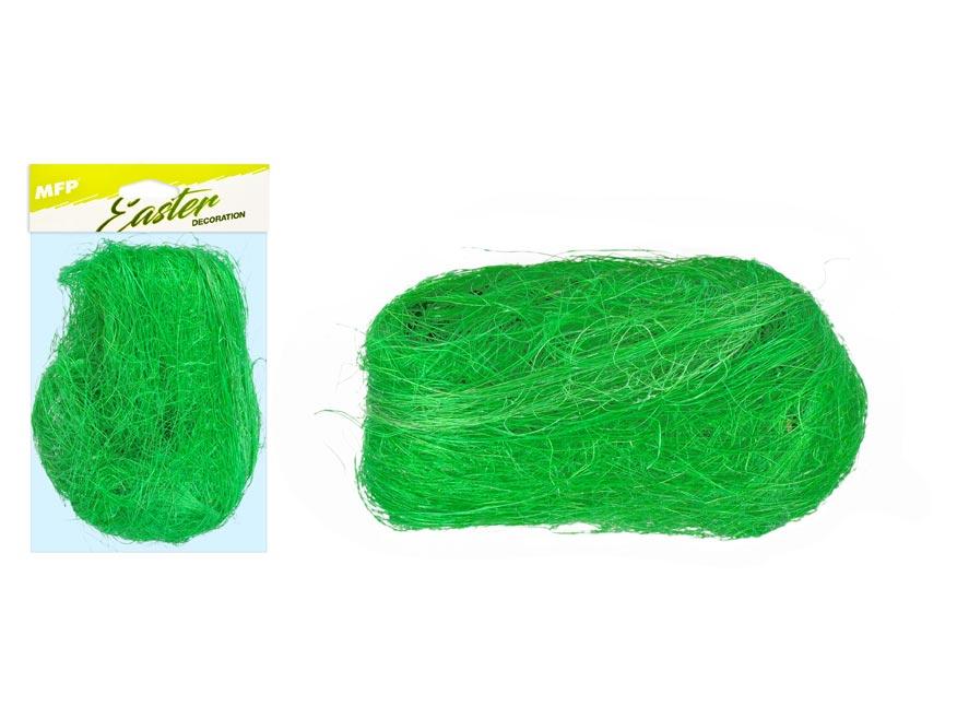 Dekorační sisal 20g tmavě zelený