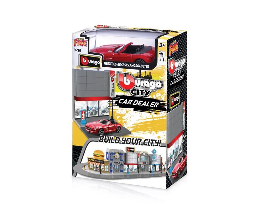 Wiky Bburago city 1:43 18-31501 Prodejna aut W010104