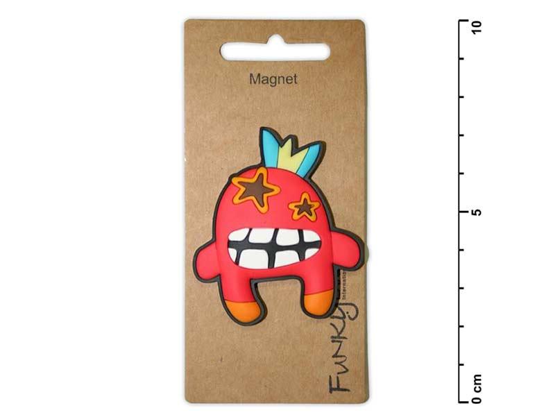 Magnet dek.1431-50 Příšerka červená cca 5 cm