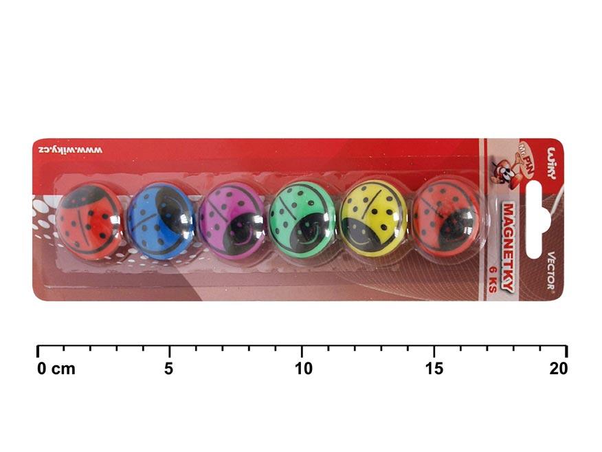Magnety 816052 beruška 6ks 30mm