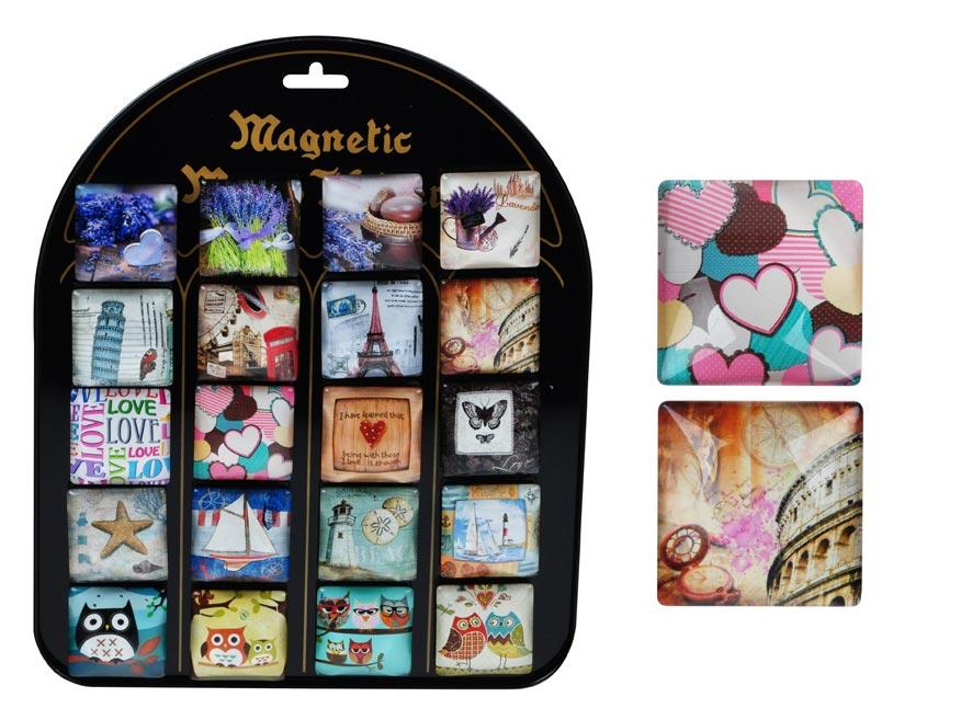 Magnet dekorační 4x4cm mix č.2