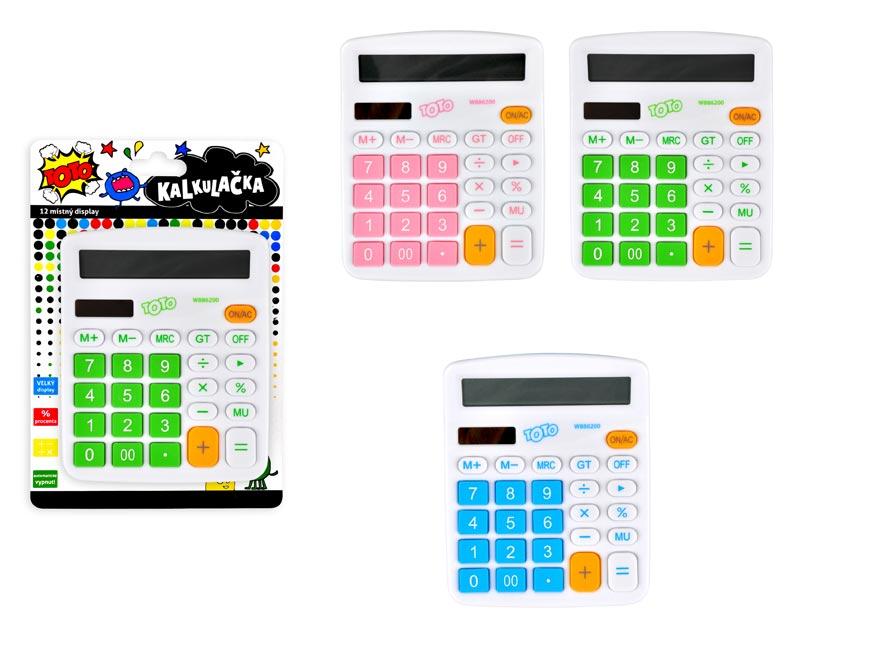 Kalkulačka 886200 barevná velká