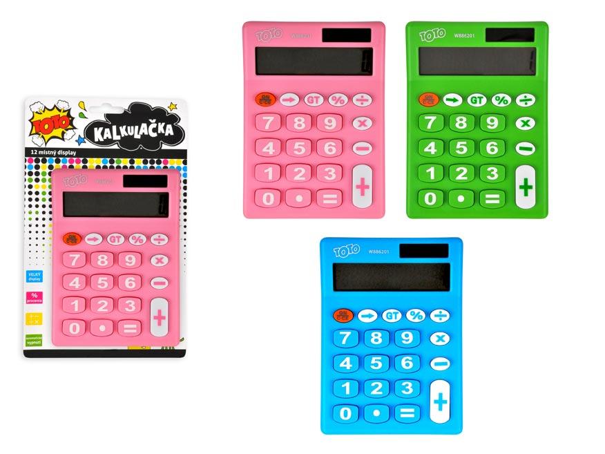 Kalkulačka 886201 barevná střední