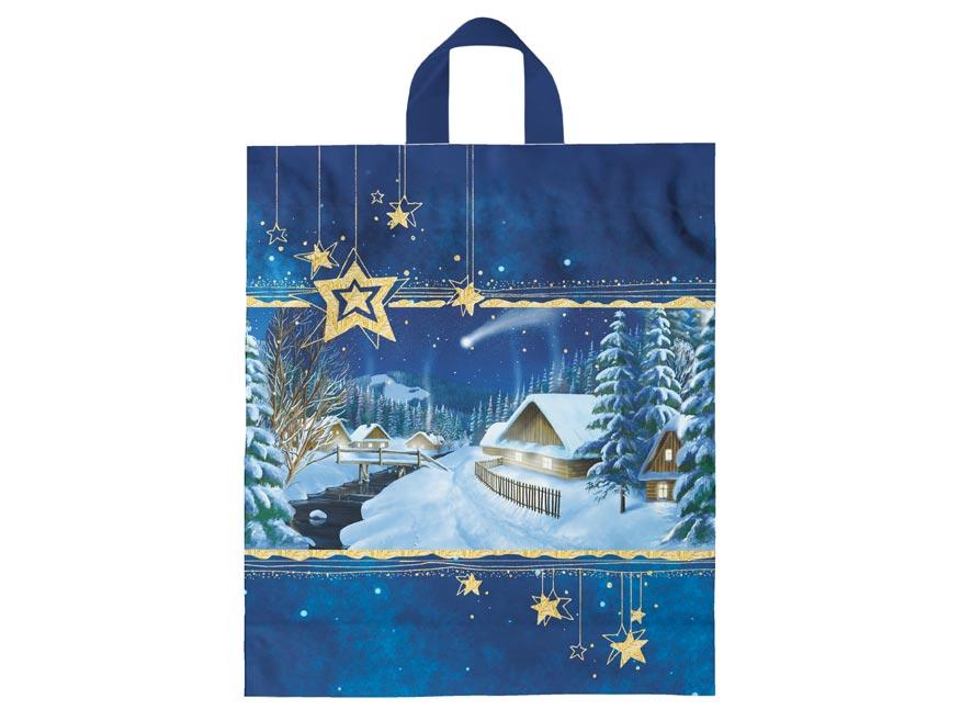 Igelitová vánoční taška vzor 1 39x46x8 (s uchem)