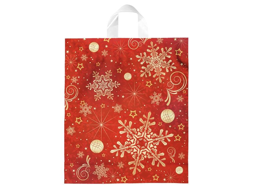 Igelitová vánoční taška vzor 2 39x46x8 (s uchem)
