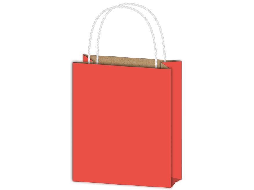 Taška MFP dárková T 4 kraft 180x230x100 červená